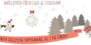 Cerrado por Navidad. <h6>23 de diciembre a 7 de enero</h6>